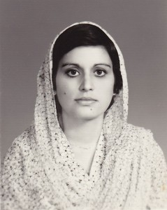 Nayla Syed 1984, photgraphed by Quaid's Photographer