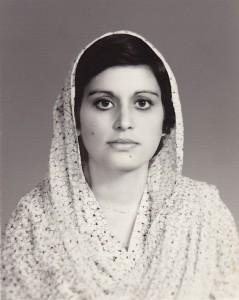 Nayla Syed 1984, photgraphed by Quaid's Photographer